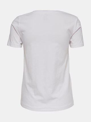 Tričká s krátkym rukávom pre ženy ONLY - biela