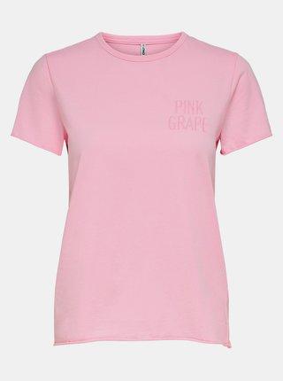 Růžové basic tričko ONLY Fruity