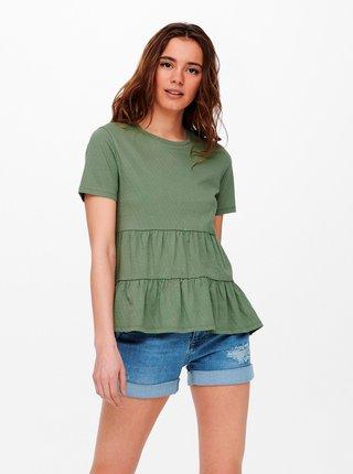 Tričká s krátkym rukávom pre ženy Jacqueline de Yong - zelená