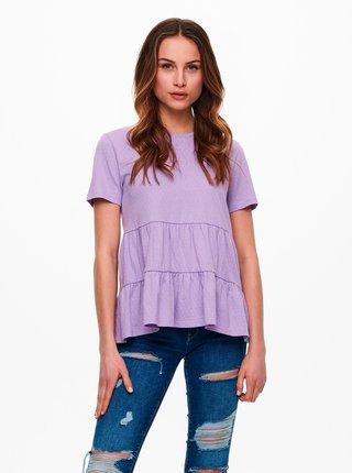 Fialové volné tričko Jacqueline de Yong Pastel