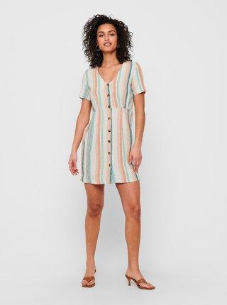 Letné a plážové šaty pre ženy ONLY - biela, modrá