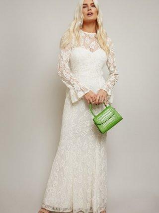 Biele krajkové svadobné maxišaty Little Mistress