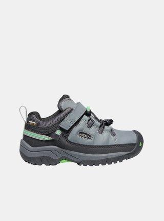Šedé detské kožené topánky Keen