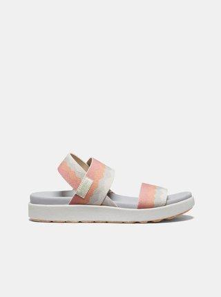Oranžovo-krémové dámské sandály Keen