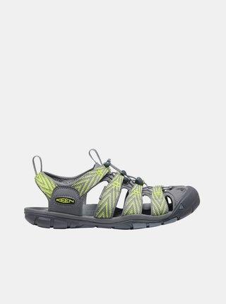 Šedo-zelené pánske vzorované sandále Keen