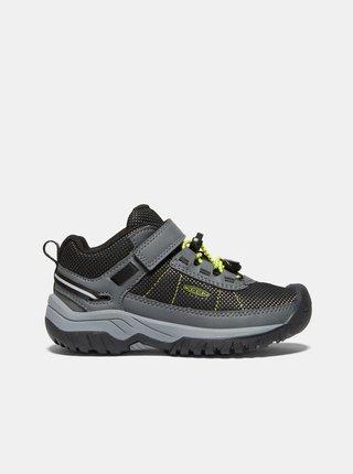 Tmavošedé detské topánky Keen