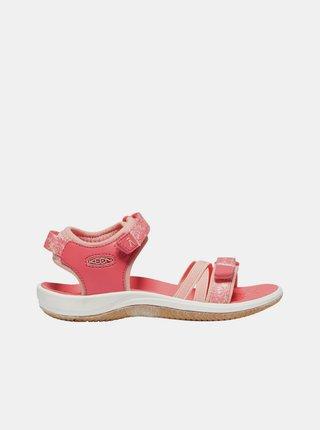Ružové dievčenské kvetované sandále Keen