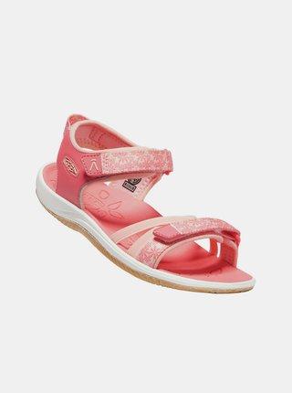Růžové holčičí květované sandály Keen