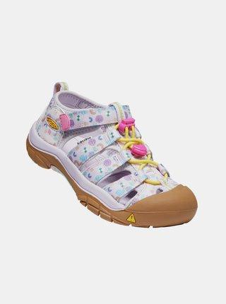 Světle fialové holčičí vzorované sandály Keen