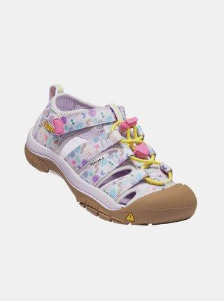 Ružové dievčenské vzorované sandále Keen