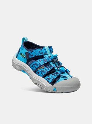Modré chlapčenské vzorované sandále Keen