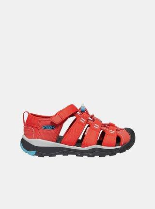Oranžové detské sandále Keen