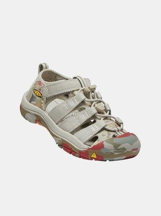 Béžové detské vzorované sandále Keen