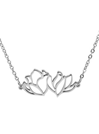 Vuch náhrdelník Floral Silver