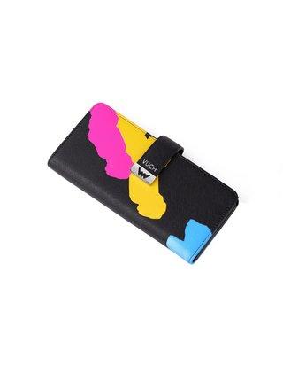 Vuch černá peněženka Aureli s barevnými motivy