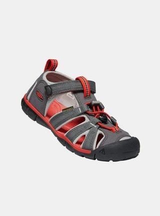 Šedé detské sandále Keen