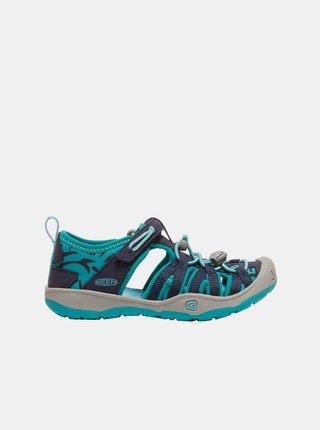 Modré detské vzorované sandále Keen
