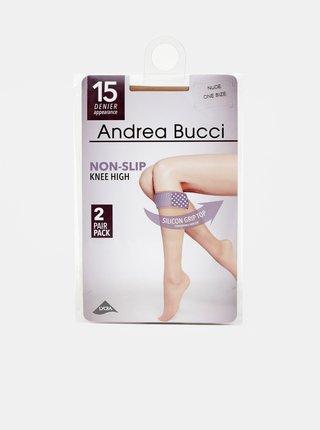 Dva páry tělových punčochových podkolenek Andrea Bucci 15 DEN