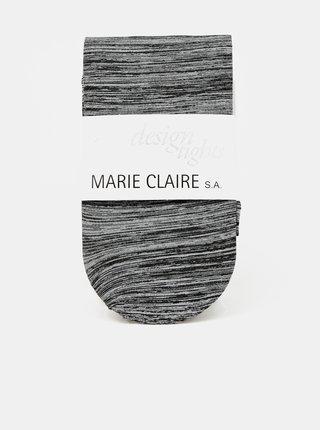 Šedé žíhané pančuchové nohavice Marie Claire