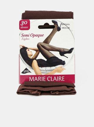 Hnědé punčochové kalhoty Marie Claire 30 DEN