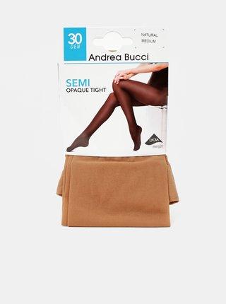 Hnědé punčochové kalhoty Andrea Bucci 30 DEN