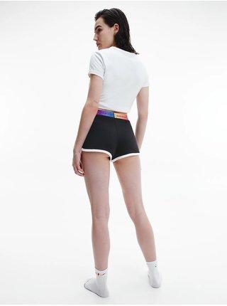 Calvin Klein bílo-černé pyžamo S/S Short set