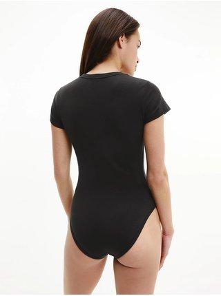 Calvin Klein černé body Bodysuit s leopardím logem