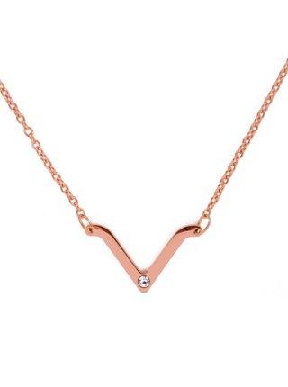 Vuch náhrdelník Visage Rose Gold