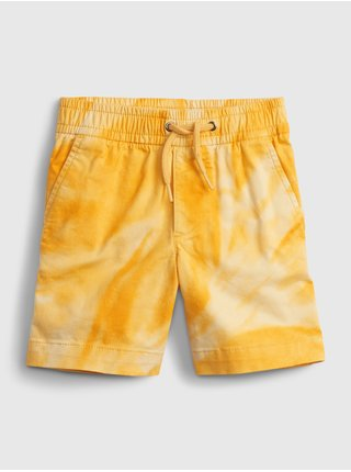 Žluté klučičí dětské kraťasy easy pull-on shorts with Washwell