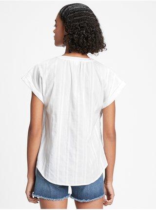 Bílý dámský top print v-neck GAP