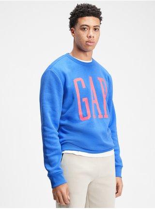 Modrá pánská mikina GAP Logo pullover sweatshirt