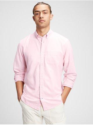 Růžová pánská košile oxford shirt in standard fit