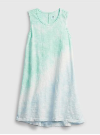 Modré holčičí dětské šaty tie-dye trapeze dress
