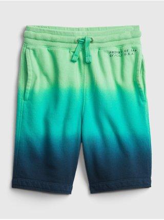 Zelené klučičí dětské kraťasy GAP Logo pull-on shorts