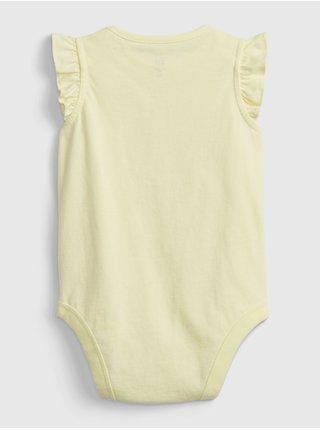 Žluté holčičí baby body GAP Logo arch suit