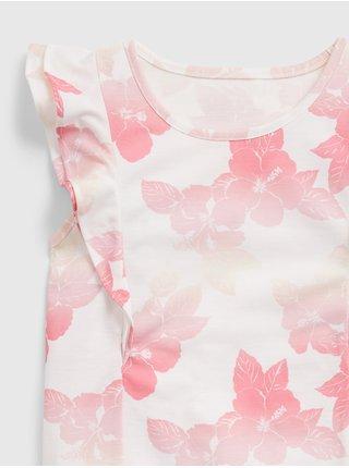 Bílé holčičí dětské pyžamo 100% recycled floral flutter pj set