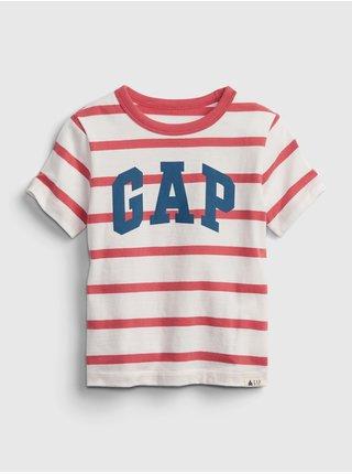 Barevné klučičí dětské tričko GAP Logo stripe t-shirt