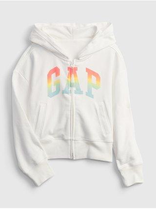 Bílá holčičí dětská mikina GAP Logo hoodie