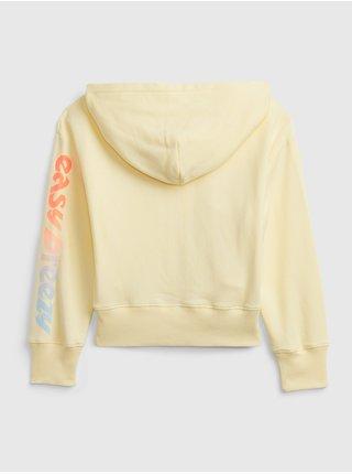 Žlutá holčičí dětská mikina GAP Logo hoodie