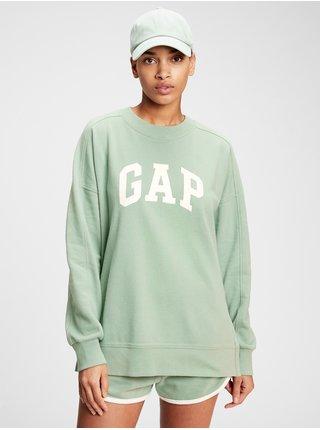 Zelená dámská mikina GAP Logo cya