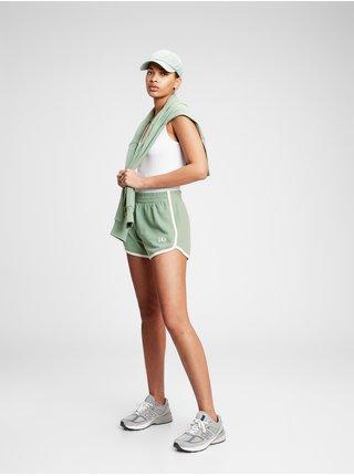 Zelené dámské kraťasy GAP Logo easy dolphin shorts
