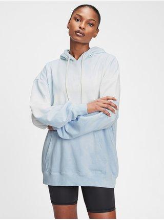 Modrá dámská mikina vintage soft boyfriend hoodie GAP