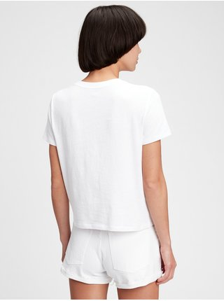 Bílé dámské tričko GAP Logo original shrunken solids t-shirt