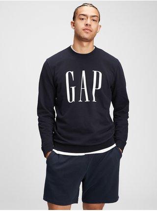 Modrá pánská mikina GAP Logo fashion corp crew