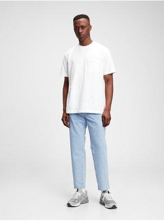 Modré pánské džíny straight jeans with GapFlex