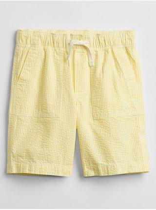 Žluté klučičí dětské kraťasy pull-on shorts
