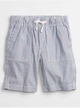 Modré klučičí dětské kraťasy pull-on shorts