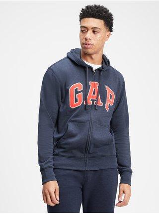 Modrá pánská mikina GAP Logo hoodie sweatshirt