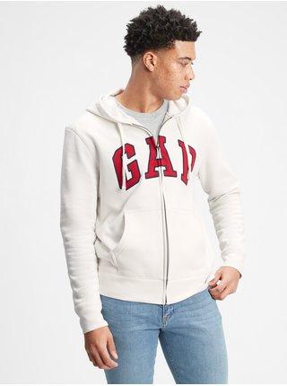 Bílá pánská mikina GAP Logo hoodie sweatshirt
