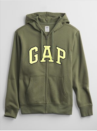 Zelená pánská mikina GAP Logo hoodie sweatshirt